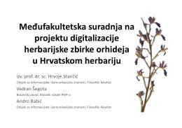 Međufakultetska suradnja na projektu digitalizacije herbarijske
