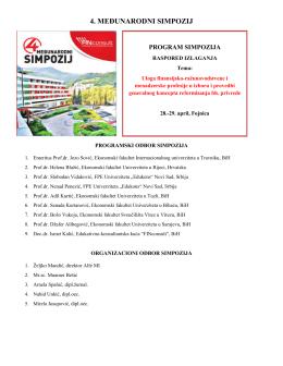 4. međunarodni simpozij - Poslovni konsultant