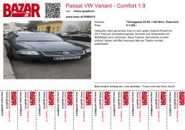 Passat VW Variant - Comfort 1.9