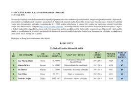 A3 - Stipendije studentima I. godina diplomskih studija