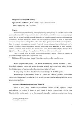 Pojava programiranog učenja1_Slavica_ivan