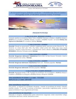 ESPRM LISABON 20. Evropski kongres fizikalne medicine i