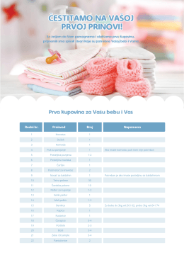 Spisak stvari potrebnih za majku i bebu - PDF