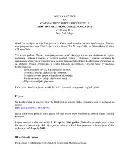 PozivSR - Filozofski fakultet u Novom Sadu