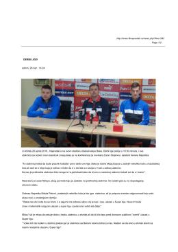 derbi lige! - FK Napredak