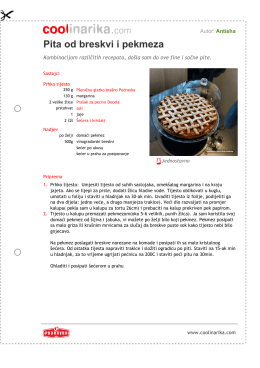 Pita od breskvi i pekmeza