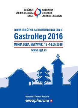 Program Foruma - Udruženja gastroenterologa Srbije