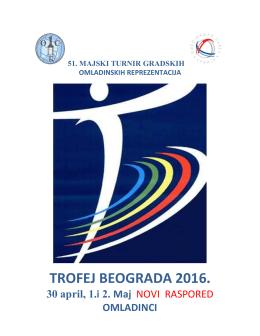 Raspored utakmica na MT - muškarci (Bilteni Trofeja Beograda)