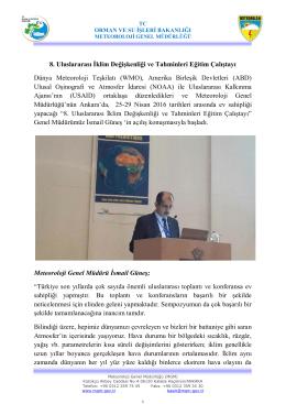 8. Uluslararası İklim Değişkenliği ve Tahminleri Eğitim Çalıştayı