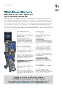 MC9200 Teknik Özellikleri