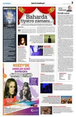 tiyatro zamanı… - Gazete Kadıköy