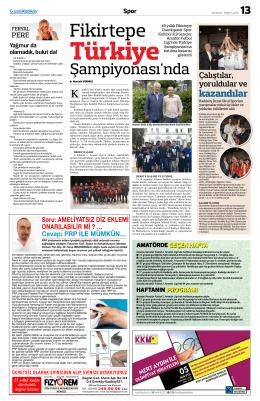 Şampiyonası`nda - Gazete Kadıköy
