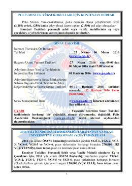 sınav başvuru kılavuzu - Polis Akademisi Başkanlığı