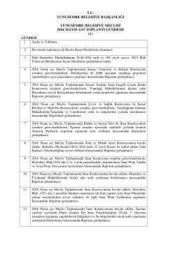 tc yunusemre belediye başkanlığı yunusemre belediye meclisi 2016