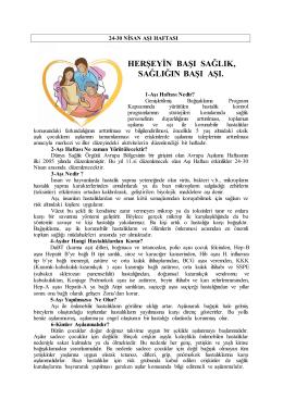 11. avrupa aşı haftası - Tekirdağ Halk Sağlığı Müdürlüğü