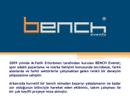 bench events sunum