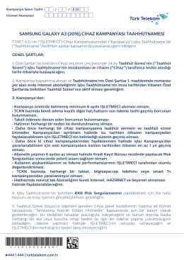 Samsung Galaxy A310 TTNET - Telekom Paketleri > Türk Telekom