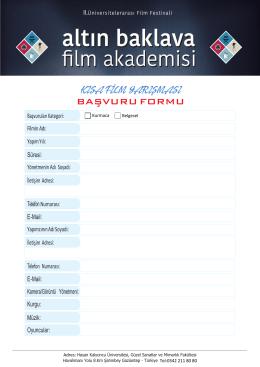 Başvuru formu için tıklayınız - Hasan Kalyoncu Üniversitesi