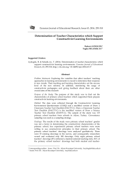 Determination of Teacher Characteristics which Support