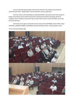 Medya İletişim Bürosu Adli Kolluk Semineri Yapıldı.