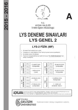 LYS GENEL 2