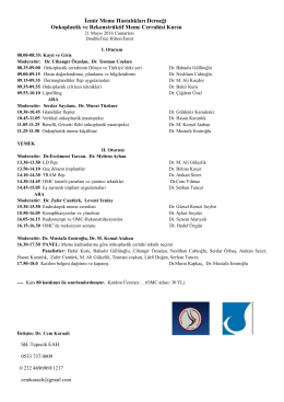 Kurs Programı - Türkiye Meme Hastalıkları Dernekleri Federasyonu