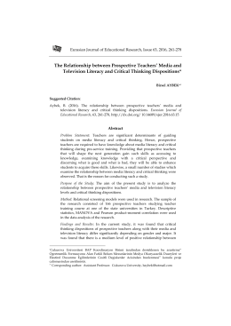 The Relationship between Prospective Teachers` Media and
