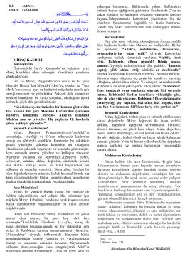 "29.04.2016 Tarihinde Okunacak Olan ""Mirac Kandili"""