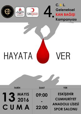 4. Geleneksel Kızılay Kan Bağışı Kampanyası