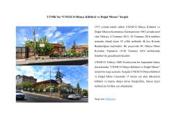 """UTMK`da """"UNESCO Dünya Kültürel ve Doğal Mirası"""" Sergisi"""