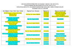 2015-2016 eğitim-öğretim yılı bahar yarıyılı ara sınavına sağlık