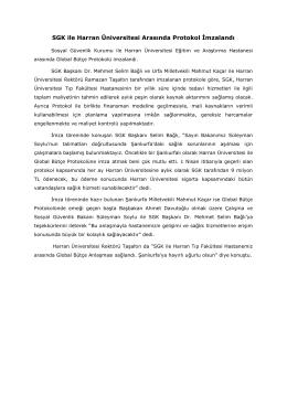 SGK ile Harran Üniversitesi Arasında Protokol İmzalandı