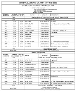 2015-2016 puanlı atletizm yıldızlar grup yarışma programı