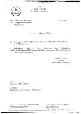 Page 1 T.C. KİLİSVALİLİĞİ İl Millî Eğitim Müdürlüğü Sayı : 29444100