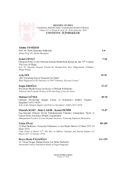 İçindekiler - International Journal of History