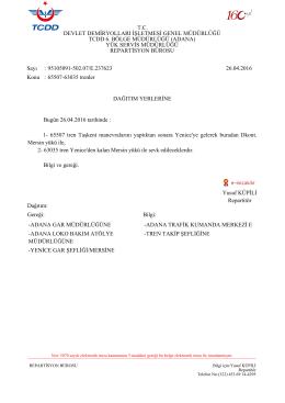 Yusuf KÜPİLİ Repartitör Sayı : 95105091