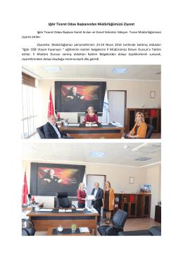Iğdır Ticaret Odası Başkanından Müdürlüğümüzü Ziyaret