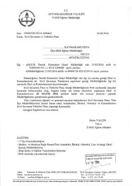 itgi : a)M.E.B. Destek Hizmetleri Genel Miidtirliifii` niin 2110312016