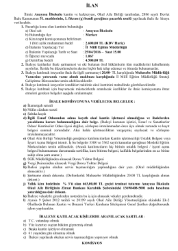Anayasa İlkokulu Okul Kantin İlanı - karabük il millî eğitim müdürlüğü