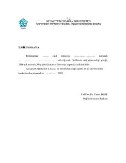 linkteki - Necmettin Erbakan Üniversitesi
