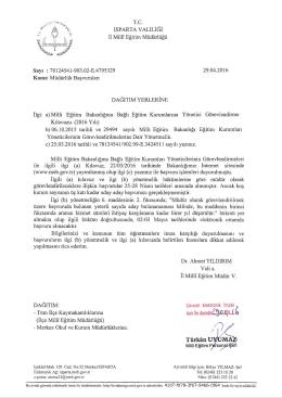 Müdürlük Başvuruları - Isparta İl Milli Eğitim Müdürlüğü