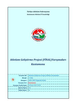 2004-05 doğumlu kızlar - Türkiye Atletizm Federasyonu