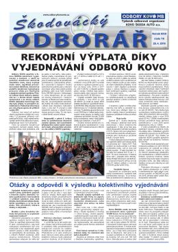 Týdeník - Odbory Kovo MB