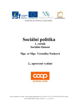 Sociální politika - SOU a SOŠ Lomnice u Tišnova