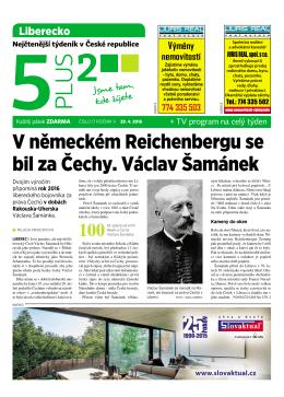 V německém Reichenbergu se bil za Čechy. Václav Šamánek