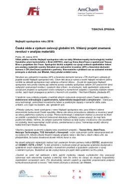 Česká věda a výzkum oslovují globální trh. Vítězný