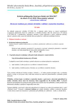 Střední zdravotnická škola Brno, Jaselská, příspěvková organizace