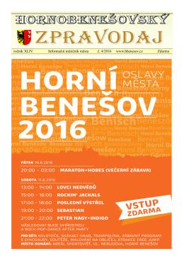 Hornobenešovský zpravodaj 4-2016