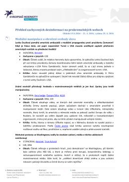 Přehled zachycených dezinformací na prokremelských webech