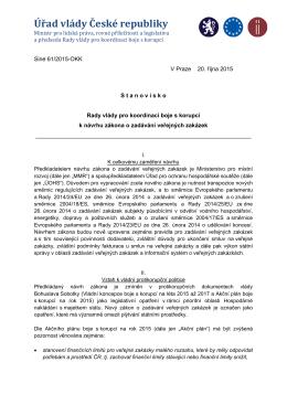 17. Stanovisko RV KBK k návrhu zákona o zadávání VZ